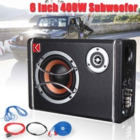 6 Inch 400W Car Subwoofers Active Powered Car Audio Subwoofer Stereo Bass Speaker Amp Sub Box 12V Car Audio Car Speaker