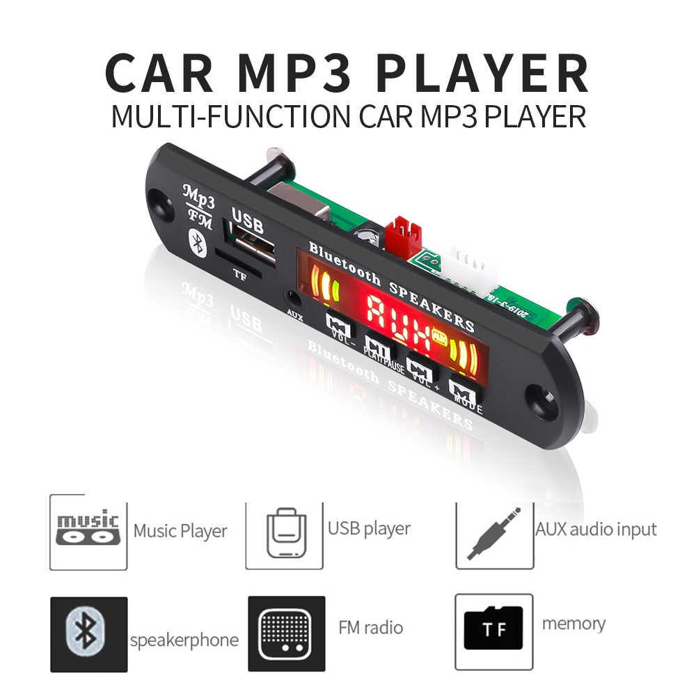 KEBIDU Auto MP3 WMA Bluetooth Scheda di Decodifica Con Supporto Remoto di Controllo di Colore Dello Schermo di Chiamata di Registrazione USB TF Radio FM Modulo