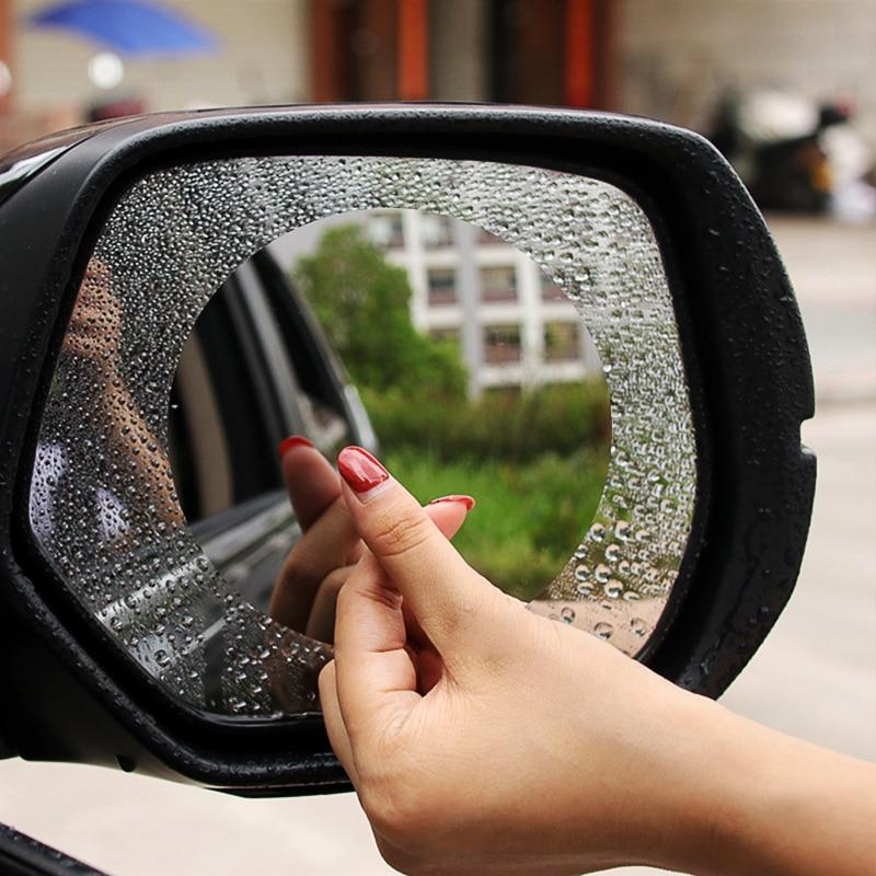 2x espelho retrovisor do carro à prova de chuva à prova dwaterproof água anti nevoeiro adesivo para volkswagen polo golf beetle mk2 mk3 mk5 mk6 bora cc passat