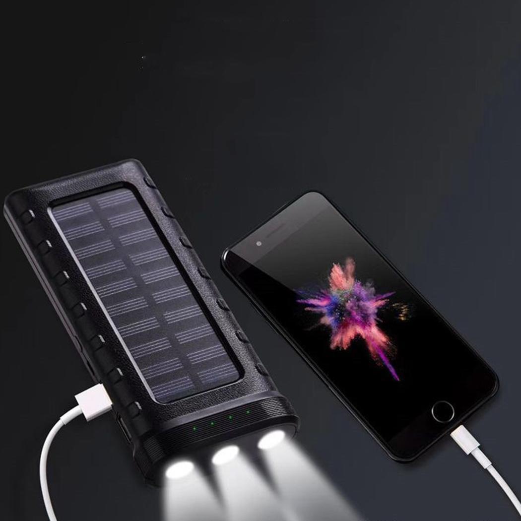 Солнечная зарядка 13000 мАч Внешний аккумулятор 18650 полимерный power bank двойное