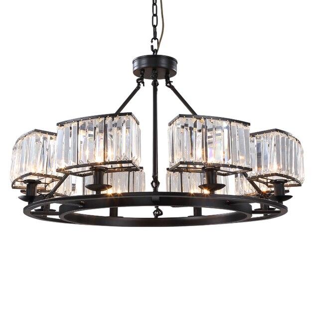 Pendant Lampara Industrial European Crystal Dining Room Light Luminaria Suspendu Suspension Luminaire Deco Maison Hanging Lamp