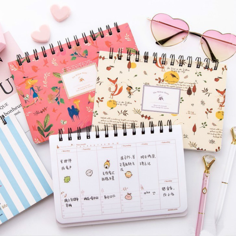 Animal Flower Coil Spiral Cute Sketchbook Bullet Journal Notebook Paper Weekly Planner Accessories Stationery Diary Agenda 01670Animal Flower Coil Spiral Cute Sketchbook Bullet Journal Notebook Paper Weekly Planner Accessories Stationery Diary Agenda 01670