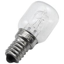 E14 высокотемпературная Лампа 500 градусов 25 Вт галогенная пузырьковая лампочка для духовки E14 250V 25W кварцевая лампа