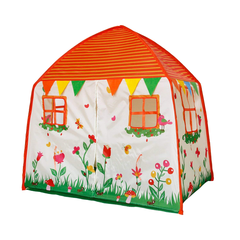 Tente pour enfants pour jeu extérieur et intérieur, tente pliable pour filles et garçons avec tapis souple abricot