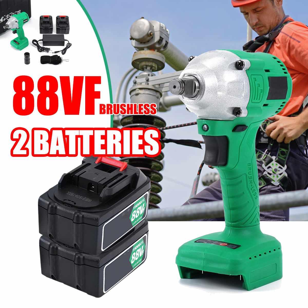 460Nm Max couple 1/2 pouces prise de voiture sans brosse sans fil clé à chocs bricolage ménage clé électrique changement des outils de pneu