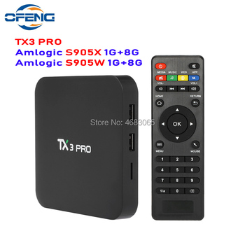 TX3 PRO Smart TV BOX Android 7.1 Wifi Amlogic S905W quad core TV BOX 4K BOX Smart Media Player 1GB/8GB set-top box free shipping