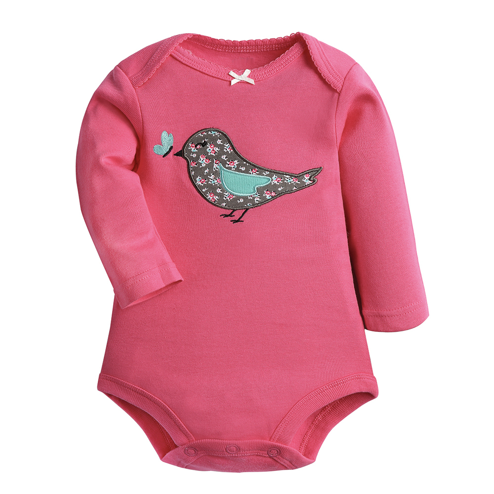 Image 2 - Baby Bodysuit 100% Cotton 3pieces/lot Autumn Spring Newborn Body Baby Long Sleeve Animal Pattern Boy Girl Pajamas Infant Clothes-in Bodysuits from Mother & Kids