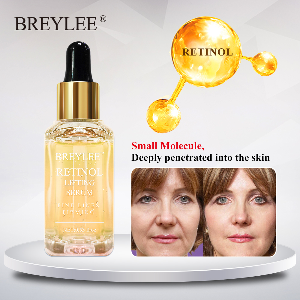 Breylee Retinol Lifting Firming Serum Face Collagen Essence Remove Wrinkle Anti Aging Facial Skin Care Fade Fine Lines Repairing