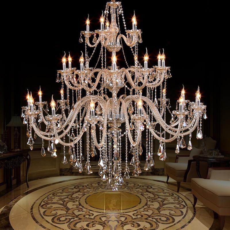 Luksuslik kaasaegne lühtervalgus kiriku saalis Duplex maja suur - Sisevalgustus