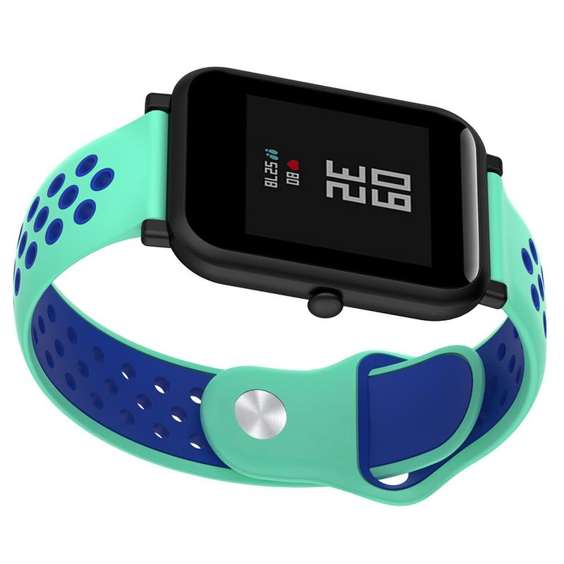 Image 3 - Replacement Wrist Strap Bracelet 20MM Bicolourable Silicone Soft Smooth Watchband Accessories For Huami Amazfit Bip Long Lasting-in Smart Accessories from Consumer Electronics