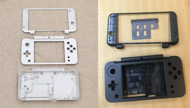 2Sets for NEW 2DS XL Housing Shell Case Middle Frame Battery Cover for New 2DS LL Game Console parts