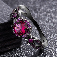 14K Gold Black Coloured Ruby Rings Anillos De Bizuteria Diamond Ring for Bague Etoile Women Jewelry Jade Diamante Obsidian