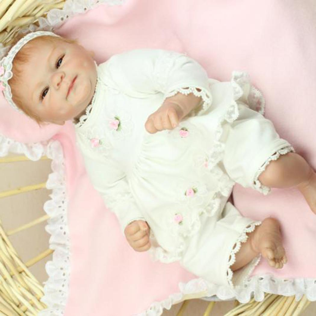45cm Soft Silicone Realistic Reborn Baby With Clothes Reborn Baby Doll  Gift Playmate Birth Certificate45cm Soft Silicone Realistic Reborn Baby With Clothes Reborn Baby Doll  Gift Playmate Birth Certificate
