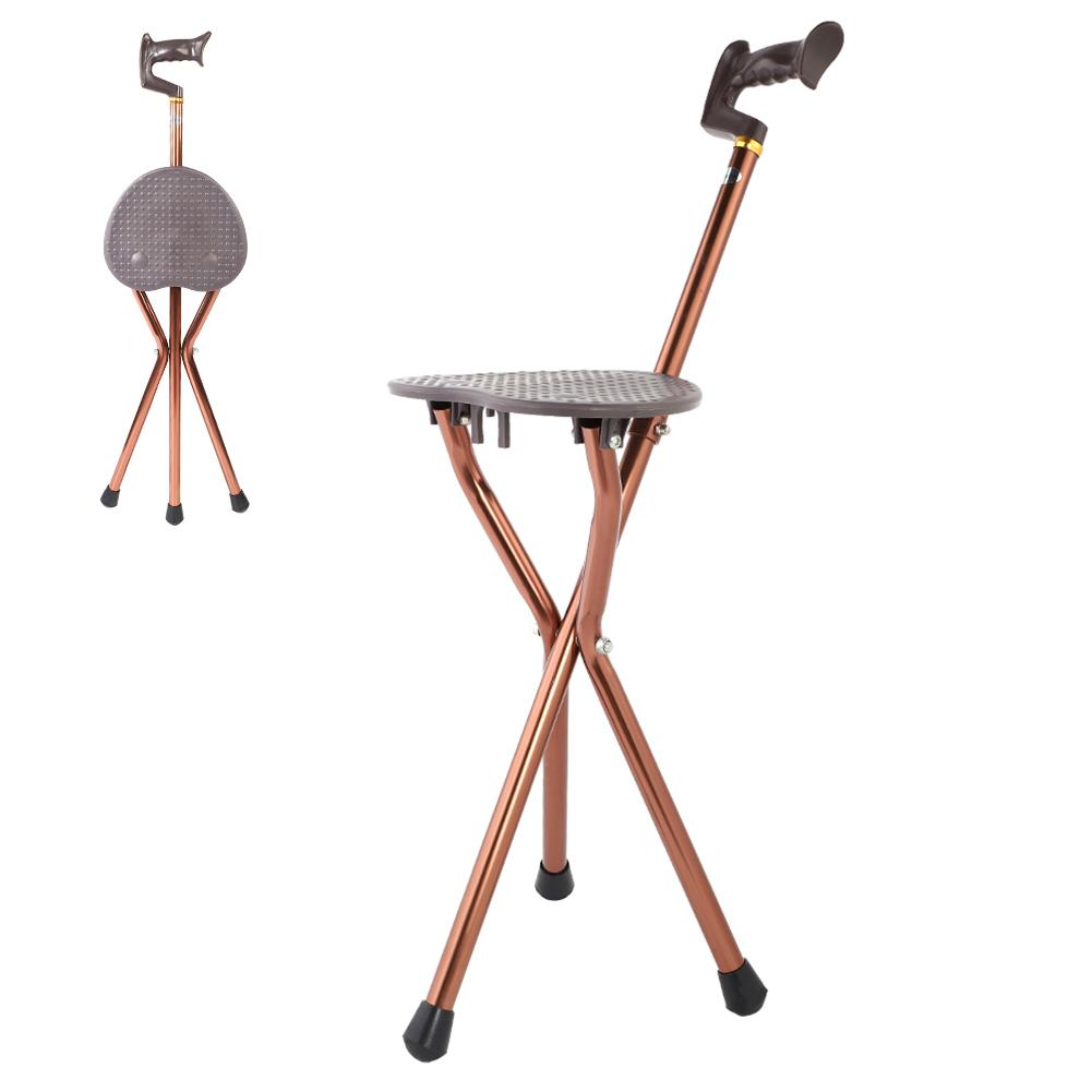 Marvelous Us 52 16 30 Off Cane Metal Portable Folding Walking Stick Chair Seat Stool Travel Cane Chair Adjustable In Walking Sticks From Sports Pabps2019 Chair Design Images Pabps2019Com