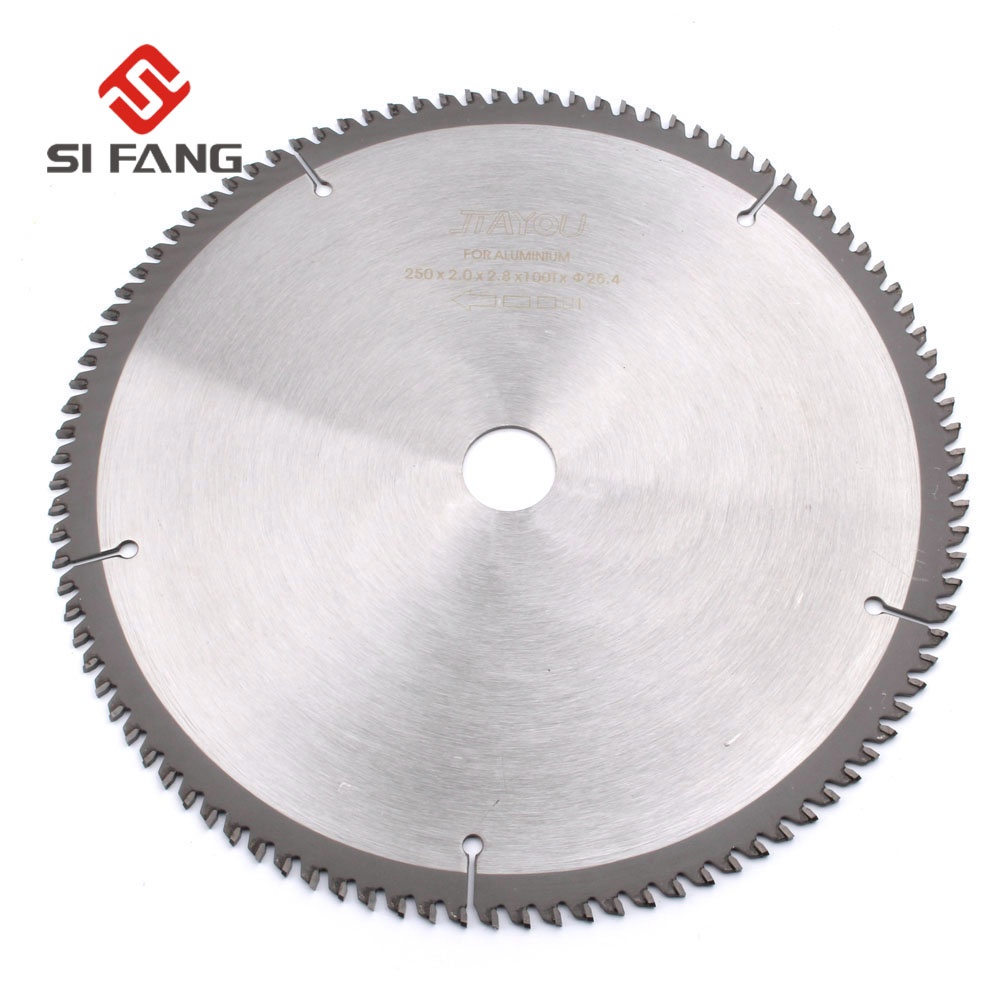 Professional Quality 250(10'') 100T TCT saw blade for Metal Aluminum Copper Cutting Blade For Wood Aluminum Cutting Blade Tools