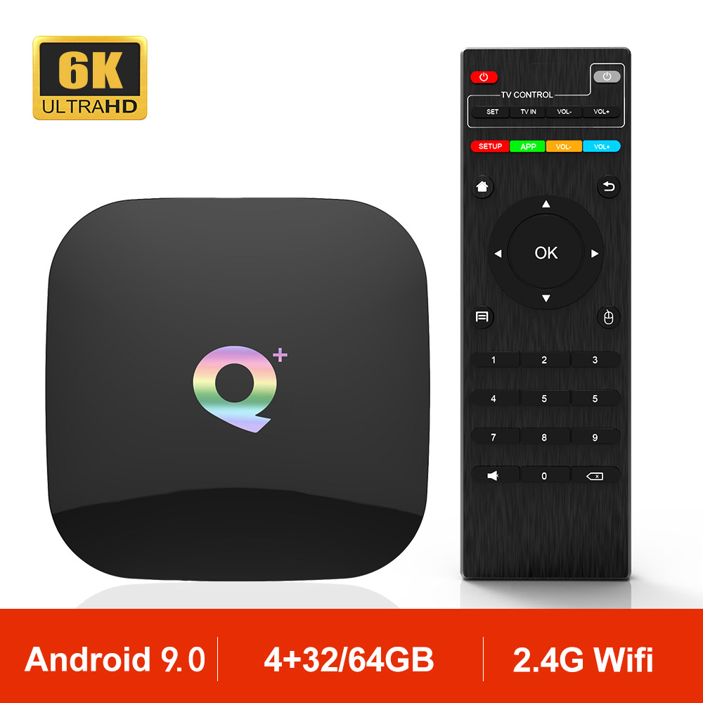 Q PLUS Allwinner H6 Android 9 0 Smart TV Box 4GB 32GB 3D 1080P H 265