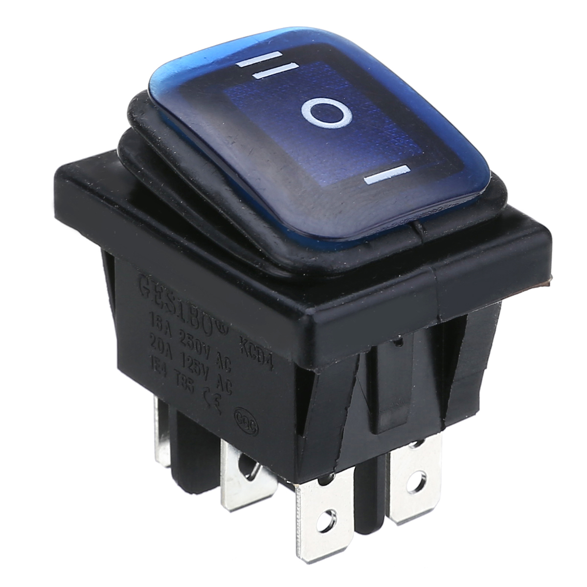 3 Red BBT Marine Grade Mini 12 Volt On//Off Push Button Switches