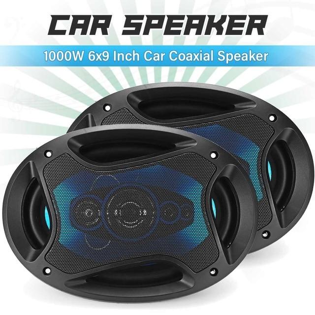 12V 1000W 6x9 inch 2-way Car Coaxial Speaker Auto Vehicle Audio Tweeter Loundspeaker Music Stereo Sub Woofer Speakers 1