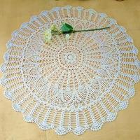 36'' 90cm Beige Round Sunflower Crochet Tablecloth Lace Handmade Crochet Tablecloth Home Table Decoration