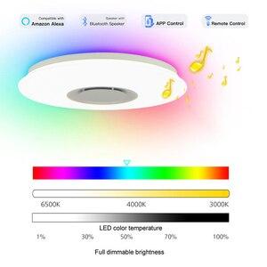 Image 2 - Nowoczesna gwiazda świetlna led RGB Smart Blutooth muzyka sufitowa możliwość przyciemniania 36W APP lampka ze zdalnym sterowaniem do salonu sypialnia