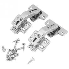 2Pcs Corner Fold Cabinet Door Hinge 135 Degree Angle w/ Screws door hinge deurscharnier