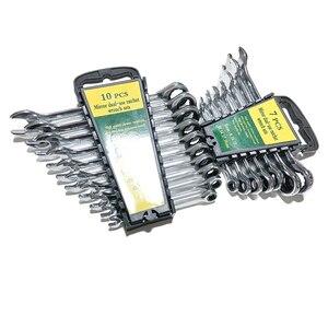 Image 3 - 8 19mm Ratchet Metric Wrench Tool Set Utensili A Mano per la Riparazione di Auto Chiavi Chiave di UNA Serie di Chiave
