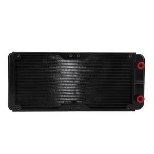 Image 4 - 240Mm 18 Ống Hợp Kim Nhôm Máy Tính Nước Làm Mát Máy Tính Ốp Lưng Nước Làm Lạnh Tản Nhiệt Bình Giữ Nhiệt Cho Laptop Máy Tính Để Bàn