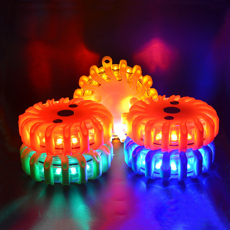 Led Warning Flashing Light 100hours Working 90m Visiable Distance With Magnet Car Flashing Light Sea Flashing Warning Light