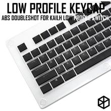 Kailh CHOC ต่ำโปรไฟล์ keycap สำหรับ kailh LOW PROFILE swtich ABS DoubleShot Ultra บาง keycap สำหรับ LOW PROFILE สีขาวสีน้ำตาลสีแดง