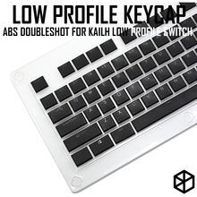 Kailh choc conjunto de chaveiro, perfil baixo para kailh swtich abs dupla face ultrafina para teclado de baixo perfil branco vermelho marrom vermelho