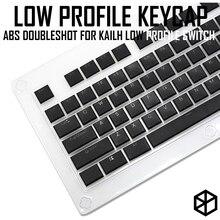 Kailh choc niskoprofilowy zestaw klawiszy dla kailh niski profil swtich abs podwójny ultra cienki klucz do niskiego profilu biały brązowy czerwony