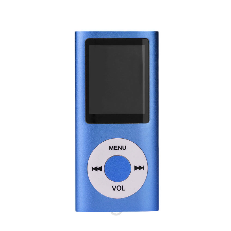 LCD Screen Display Music Media Player MP4 with FM Radio blue