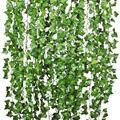 2 м 6 6 Футов ручная работа Плющ зеленый лист гирлянда листва искусственные листья для свадебного украшения DIY ВЕНОК подарок Скрапбукинг Реме...