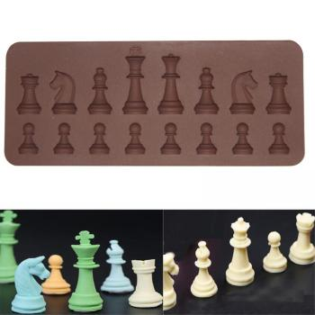 New 1PC Fondant Cake Chocolate Baking Tray International Chess Chariot Bishop Silicone Mold image