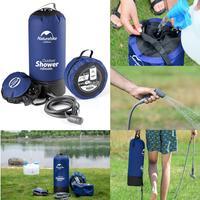 Inflatable Shower Pressure Shower Water Bag Portable Outdoor Hiking Shower Bag Folding Barrel Camping Water Storage Bags 12L