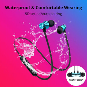 Image 4 - Earphone Wireless Bluetooth Headset Magnetic Earbuds Waterproof Sport With Mic For iPhone Sony Xiaomi Meizu Gaming Headset
