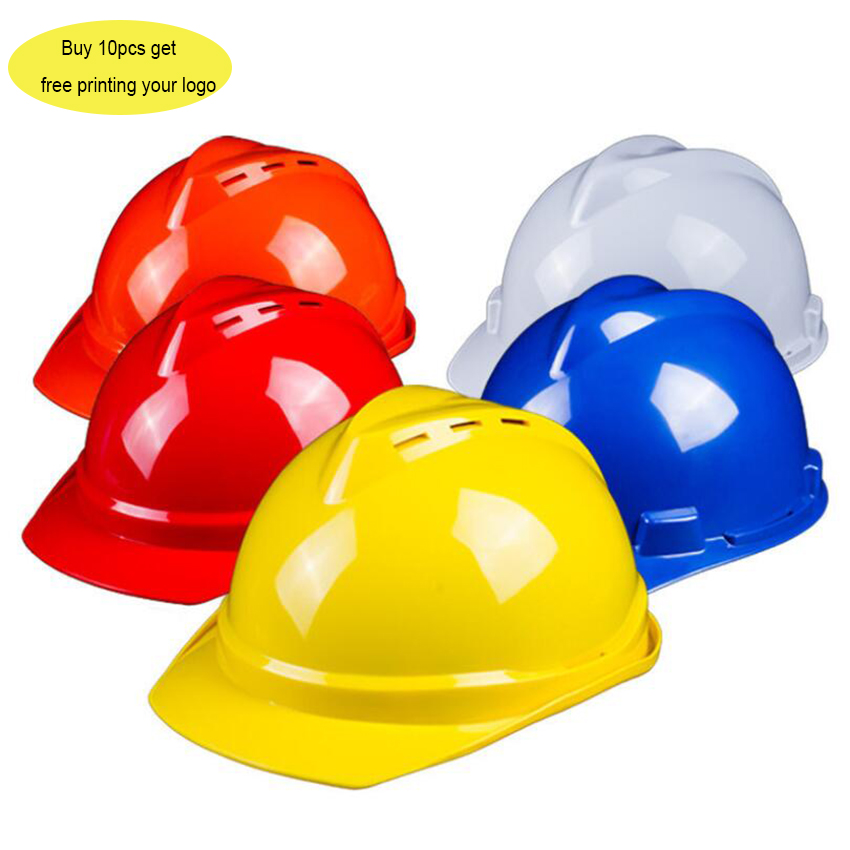 Customize Logo Safety Hard Hats Cap Breathable Construction Work Protective Helmets ABS Protect Rescue Helmets