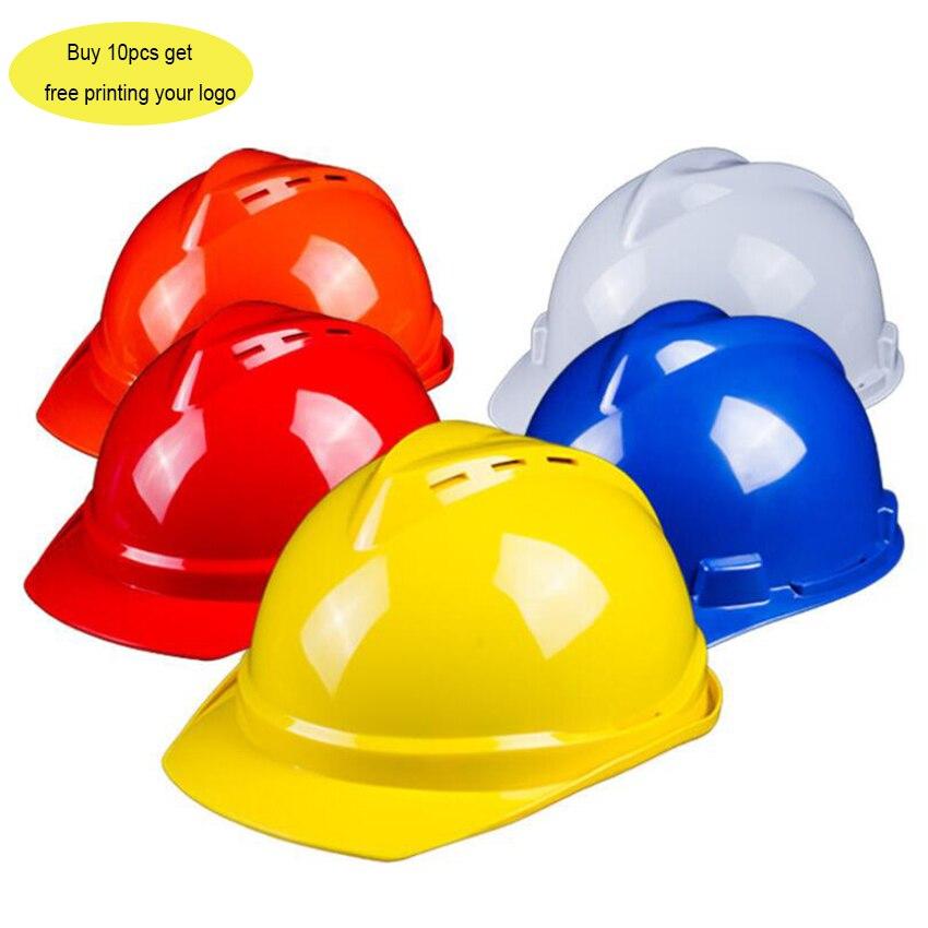 Güvenlik ve Koruma'ten Emniyet Kaskı'de Özel Logo güvenlik baretler kap nefes alabilir inşaat iş koruyucu kask ABS koruyun kurtarma kaskları title=