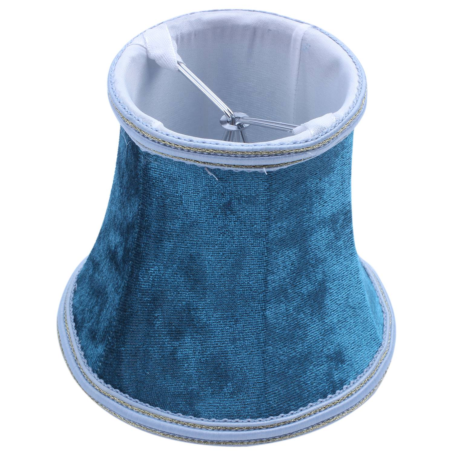 Fabric Clip On Lamp Shade, E14 Handmade Lampshade For Modern European Style Wall Sconce Lamp, Crystal Candle