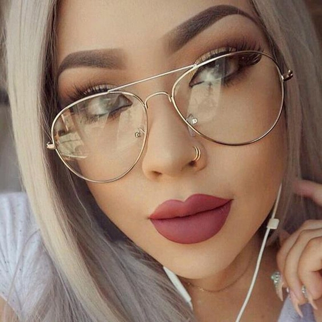 3ecd37f172 Transparent Gold Clear GlassesTitanium Alloy TR Glasses Frame Unisex Glasse  Men Optical Myopia Clear Aviator Glasses