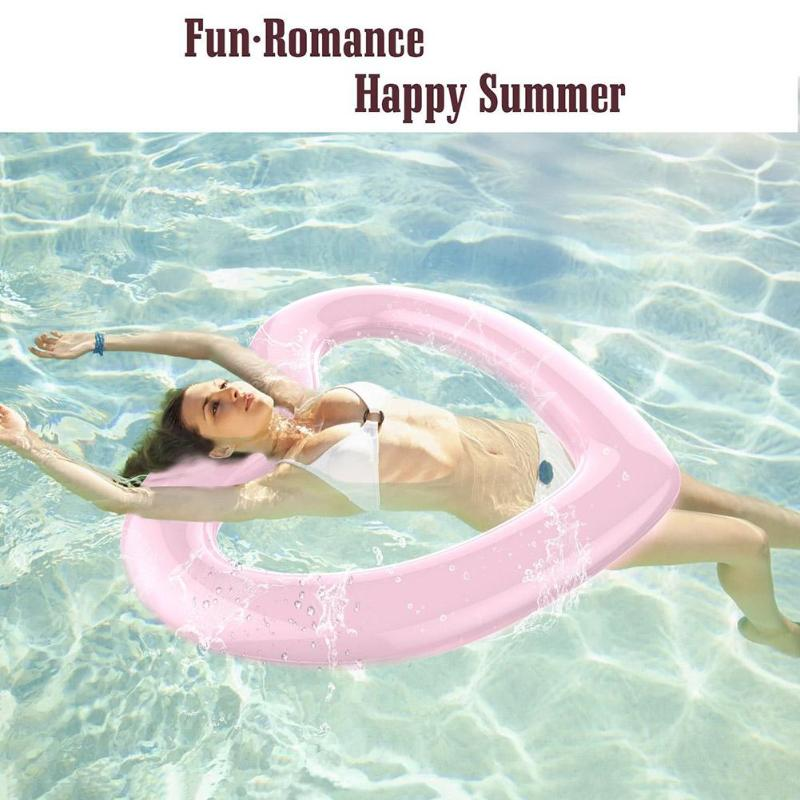 Heart Shape Inflatable Ride-ons Kids Adult Pool Rafts Toy Fun Water Sports Beach Toy