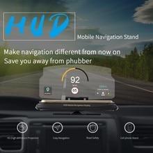 OHANEE Универсальный Автомобильный держатель для мобильного телефона, лобовое стекло, проектор, HUD, дисплей, 6,5 дюймов, чехол для iPhone, чехол для samsung, gps