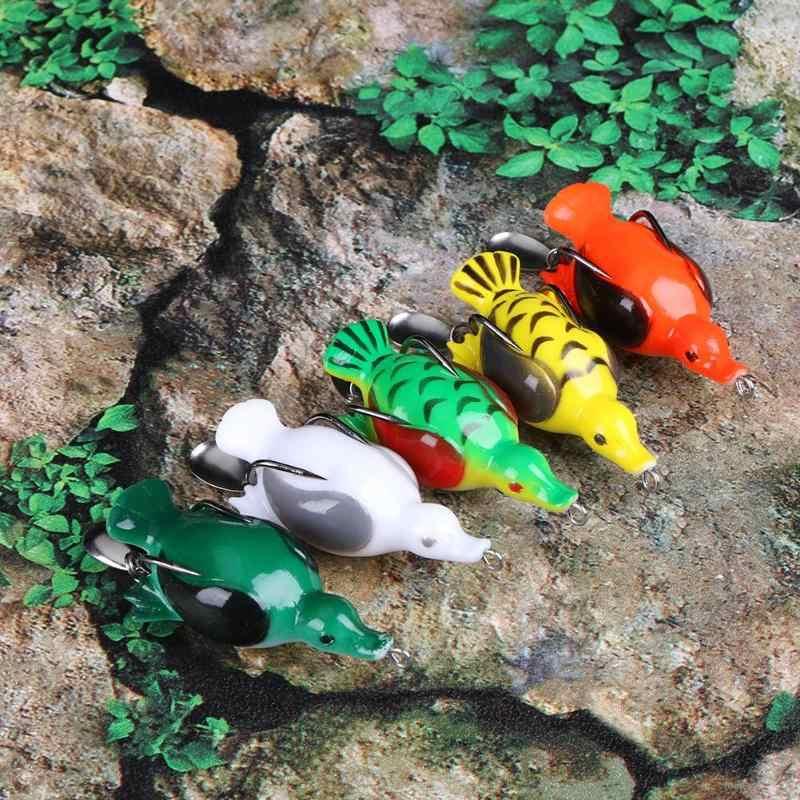 3D суицид утка 1 шт. 65 мм 13 г приманка для рыбалки искусственная мягкая утка воблеры Snakehead лягушка Карп окунь рыбалка