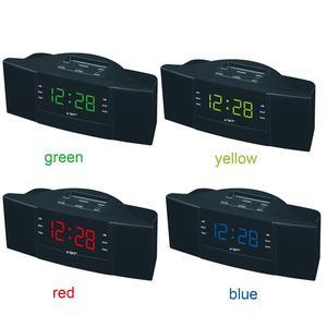 Image 4 - 휴대용 스피커 다기능 led 시계 am/fm 디지털 라디오 스테레오 사운드 음악 프로그램 장치 선물을위한 듀얼 밴드 채널