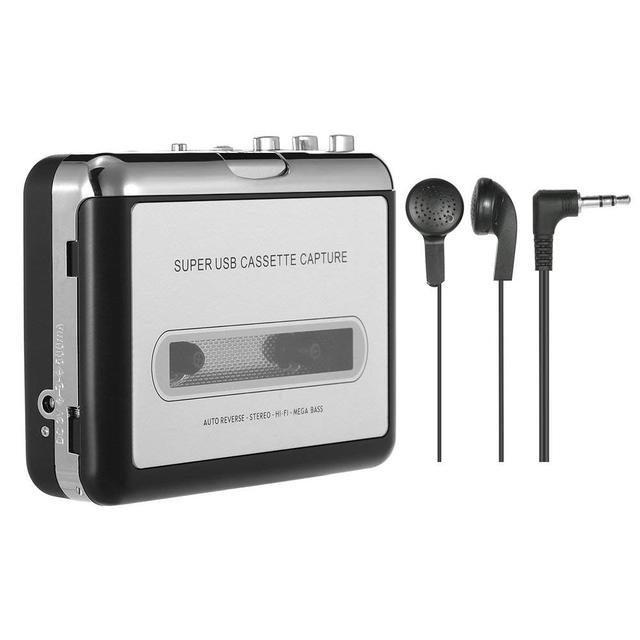 Băng Cassette cầm tay Máy Nghe Nhạc Di Động Băng Máy Nghe Nhạc Chụp Ghi Băng Cassette thông qua USB Tương Thích với máy tính xách tay và PC chuyển đổi băng c