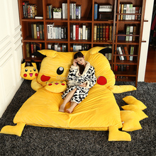 150x200cm Lovely Pikachu Sleeping Bag Sofa Bed Twin Bed Double Bed Mattress for Children Oversized Beanbag Tatami Sofa