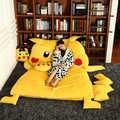 150x200cm precioso Pikachu saco de dormir sofá cama doble colchón para niños gran tamaño Beanbag sofá tatami