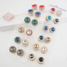 12pcs/dozen New flower Elegant magnet brooch Classic fix pin hijab accessories muslim scarf buckle Muslim Brooches