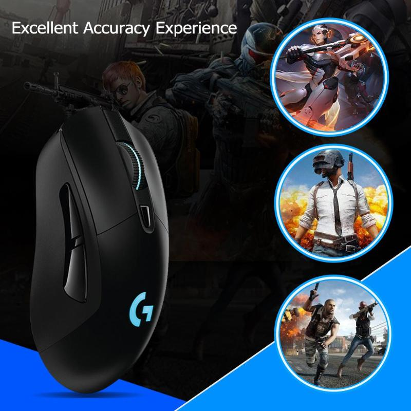 Image 3 - Logitech G403 Wired RGB Gaming Mouse Backlight 12000 DPI for PUBG PC Gamer Support Windows 10/8/7-in Mice from Computer & Office