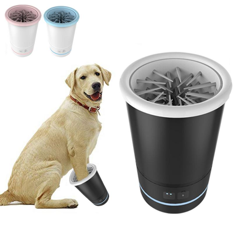 1PC Portable Pet Foot Washer Cup Soft Silicone Bristles Pet Clean Brush Quickly Cleaning Paws Muddy